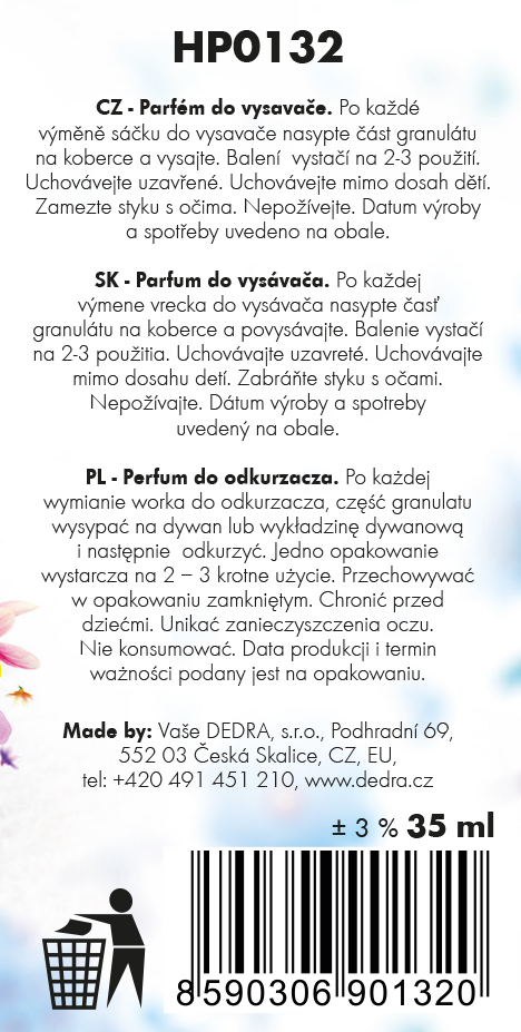 PARFUM granules - parfém do vysávača polar breeze